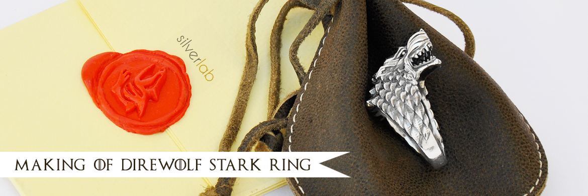 Making of House Stark Direwolf ring by Silverlab